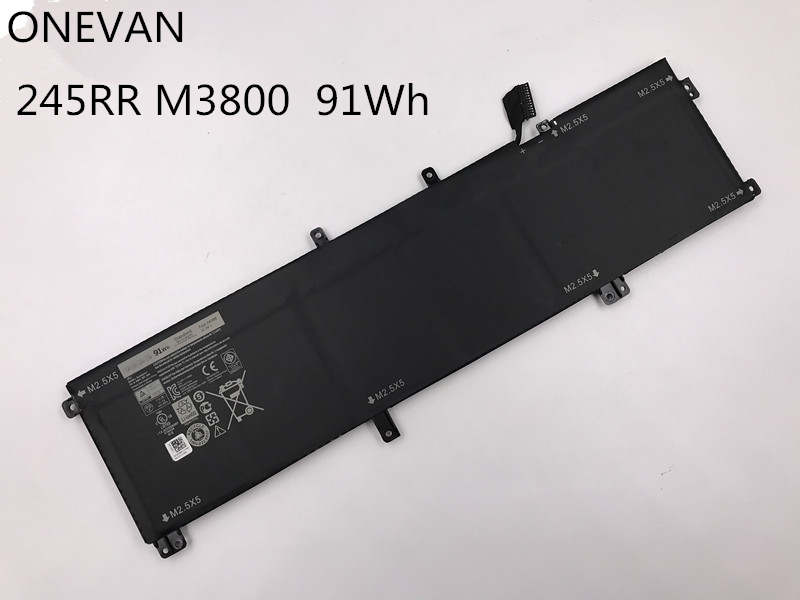 ONEVAN 11.1V 91wh NEW 245RR Laptop Battery For Dell XPS 15 9530 M3800 Series T0TRM H76MV 7D1WJ High Capacity