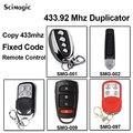 1 шт. клонирование дистанционного управления ключ дубликатор для раздвижных ворот открывалка двери команда гараж фиксированный код 433 92 МГц...