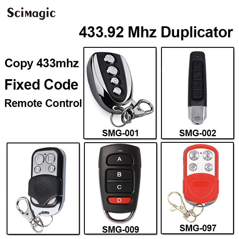 1pcs Cloning Remote Control Key Duplicator For Sliding Gates Door Opener Command Garage Fixed Code 433,92MHz Key Fob