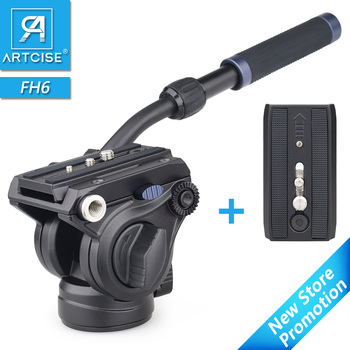 Panoramic Tripod Head Hydraulic Fluid Video Head For Tripod monopod DSLR Camera Camcorder DV Professional Pan Head Extra Plate panoramic tripod head hydraulic fluid video head for tripod monopod dslr camera camcorder dv professional pan head extra plate
