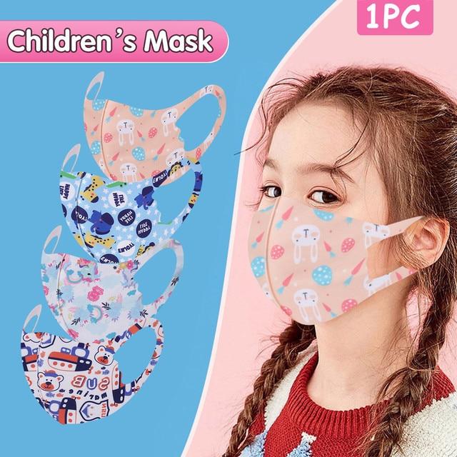1Pcs Children Kids Girls Washable Adjustable Cartoon Mask Cover Outdoor Desechables veilScarf Flag Bandana Drop-shipping#3 2