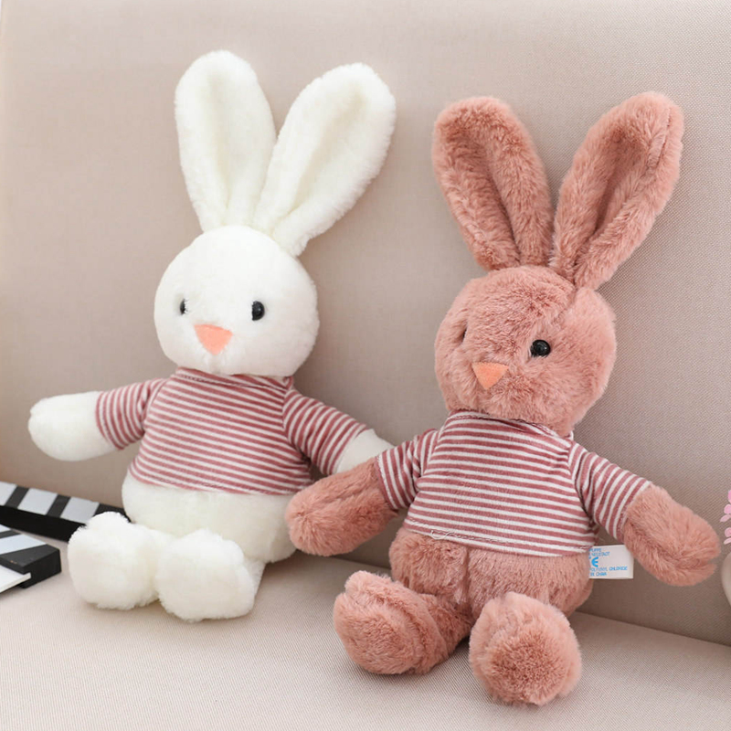 Hot 1PC 8 Inches Soft Plush Bunny Mini Rabbit Bear Toy Doll DIY Ornaments Gifts Creative Birthday Gift Little Photography Prop