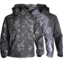 Camouflage Tactical Army Jacket Waterproof Outdoor Military Hiking Hunting Clothes Shark Skin Windproof Jackets printio hunting for shark
