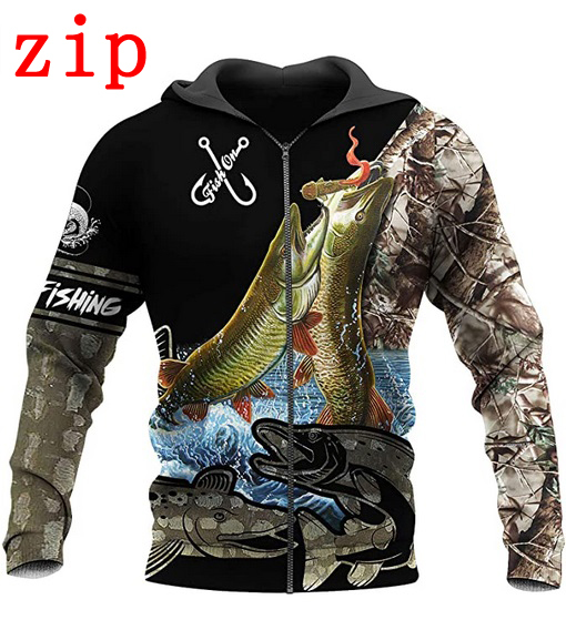3D Print Fishing & Animal Hoodie 1