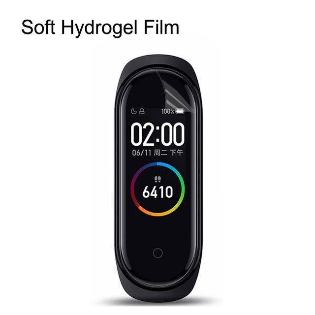 5 pièces CHYI incurvé pour xaiomi bande 4 protecteur décran nano film dhydratation pour xiomi bande 3 2 couverture plein écran non verre trempé
