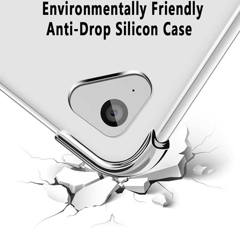 Étui en silicone antichoc pour iPad Mini Air Pro 1 2 3 4 5 6 7 7.9 9.7 10.2 10.5 11 pare-chocs souple transparent couverture arrière