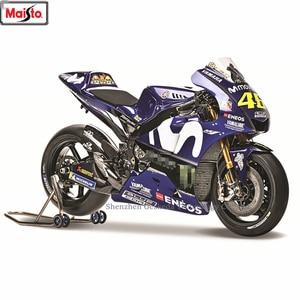 Maisto 1:18 Yamaha 2018 Champion 46Team Racing Silvardo original authorized simulation alloy motorcycle model toy car Collecting(China)