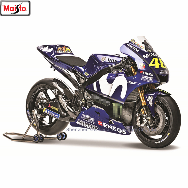 Maisto <font><b>1:18</b></font> Yamaha 2018 Champion 46Team Racing Silvardo original authorized simulation alloy motorcycle <font><b>model</b></font> toy <font><b>car</b></font> Collecting image