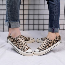 Spring 2020 new leopard print canvas shoes south Korean version of the men's tre