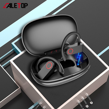 цена на CALETOP Wireless Sports Earphones Bluetooth Headsets Ear Hook Waterproof Running Noise Cancelling Stereo Earbuds with Microphone