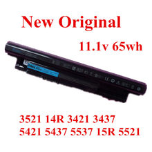 New Original Laptop replacement Li-ion Battery for  DELL 3521 14R 3421 3437 5421 5437 5537 15R 5521 11.1v 65wh стоимость