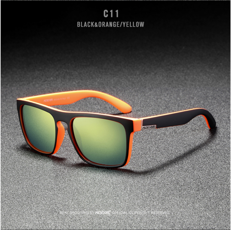 H530f8a9b5bba4181b9e8b42852e72607C - New KDEAM Mirror Polarized Sunglasses Men Ultralight Glasses Frame Square Sport Sun Glasses Male UV400 Travel Goggles CE X8