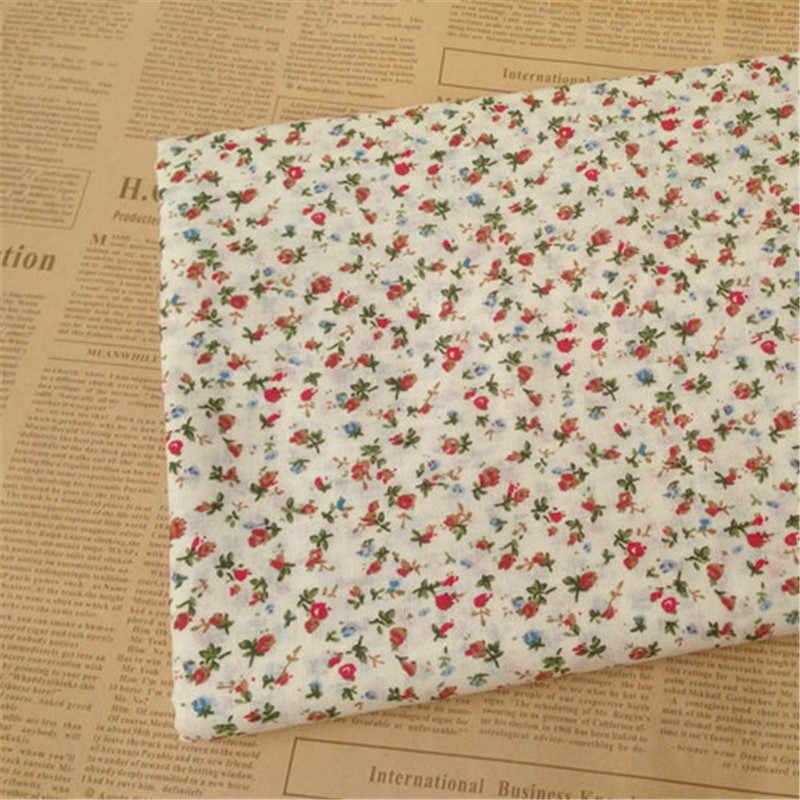 DIY 7 шт./лот 25x25 см красный цветочный узор 100% хлопок Pur-cut Лоскутная Ткань Набор для шитья квилтинга ремесла для ручной работы