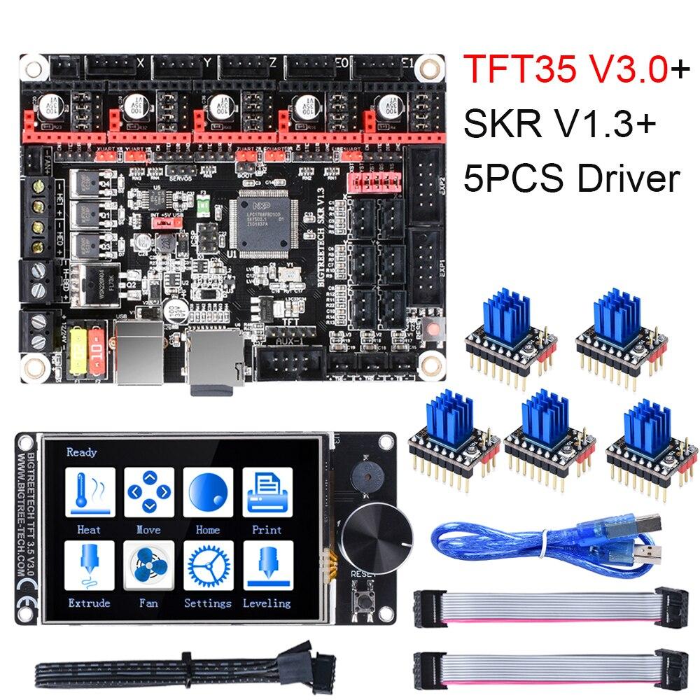 BIGTREETECH SKR V1.3 3D Printer Board+TFT35 V3.0 Touch Screen+TMC2209 UART TMC2208 TMC2130 3D Printer Parts MKS GEN L Ramps 1.4
