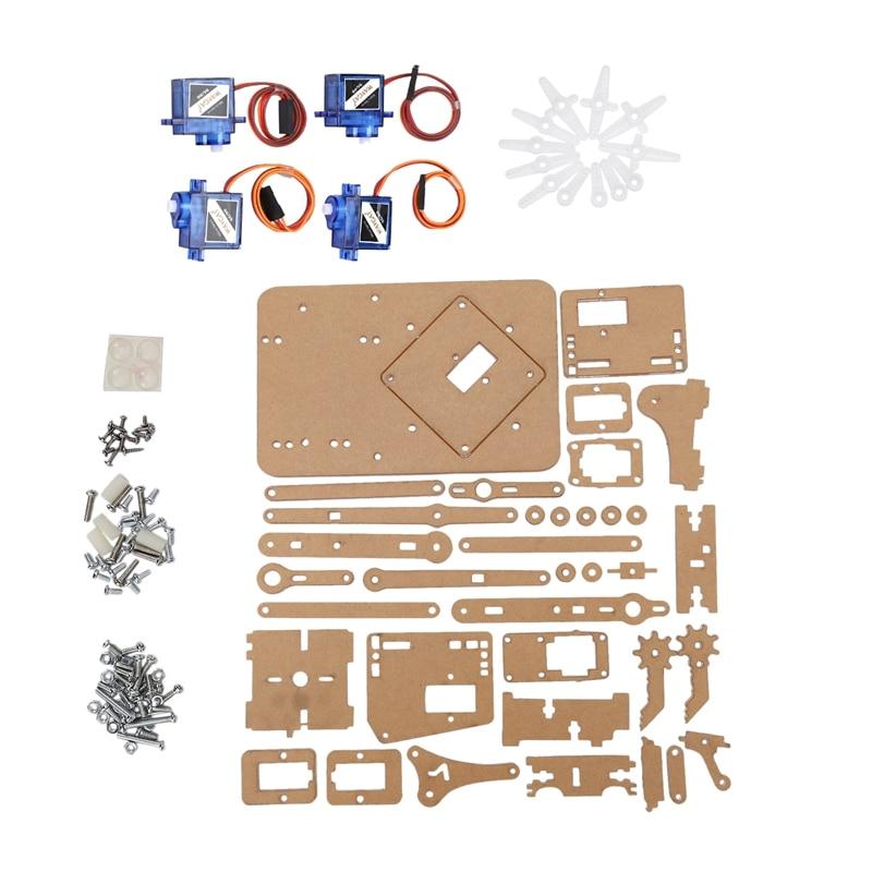 4 DOF Mechanical Arm Robot Manipulator Claw For Arduino Maker Learning DIY Kit Robot