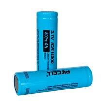 4本の単三リチウムイオン3.7 3.7v充電式バッテリーICR14500リチウムイオン電池のためのフラットトップトーチ吸うecigヘッドランプled懐中電灯