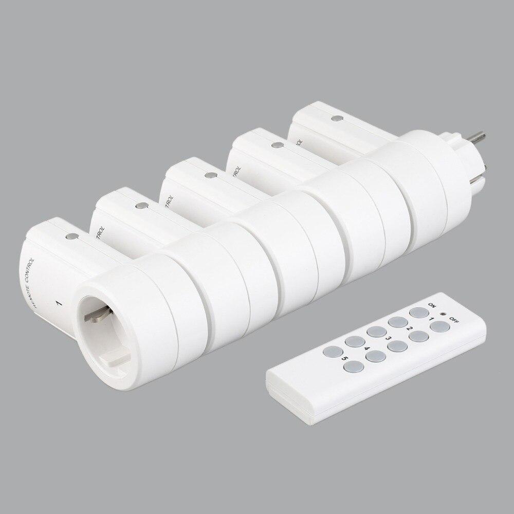 5 беспроводных переключателей с дистанционным управлением, розетки питания, электрические розетки, адаптеры с дистанционным управлением, е...