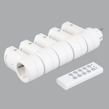 5 interruptores de controle remoto sem fio tomada tomadas de energia elétrica plugues adaptadores com controle remoto plugue da ue branco