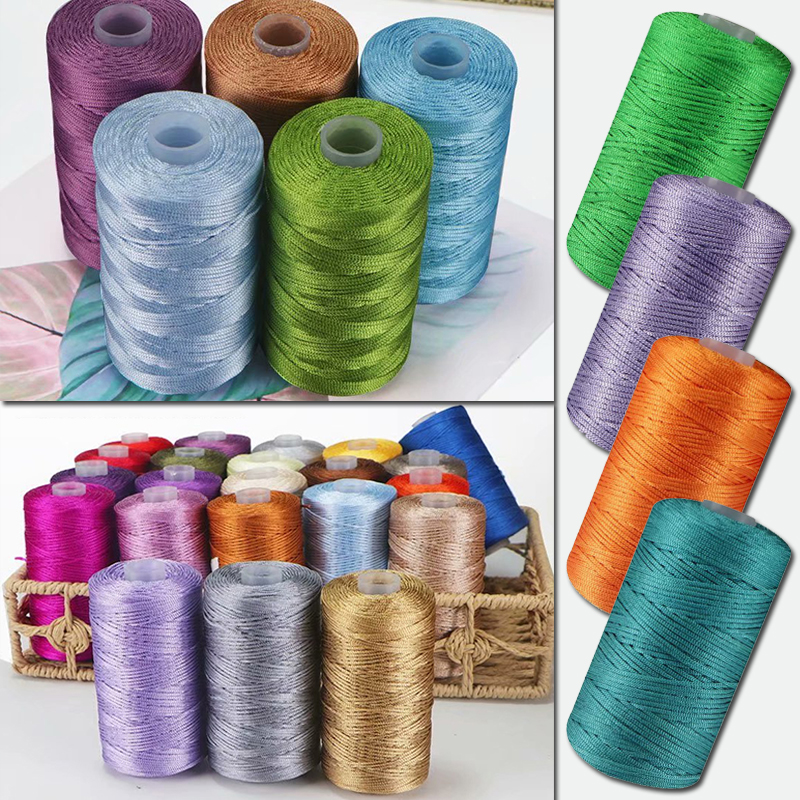 High Quality Nylon Thread Cord for DIY Handicraft Hat Bag Shoes Tool Solid Color Hand Stitching Thread Sewing Accessory