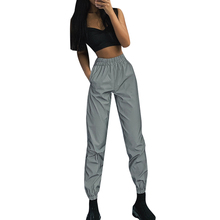 Cargo Pants Women Reflective New Casual Loose Night Running Sweatpants Clothes Streewear Joggers