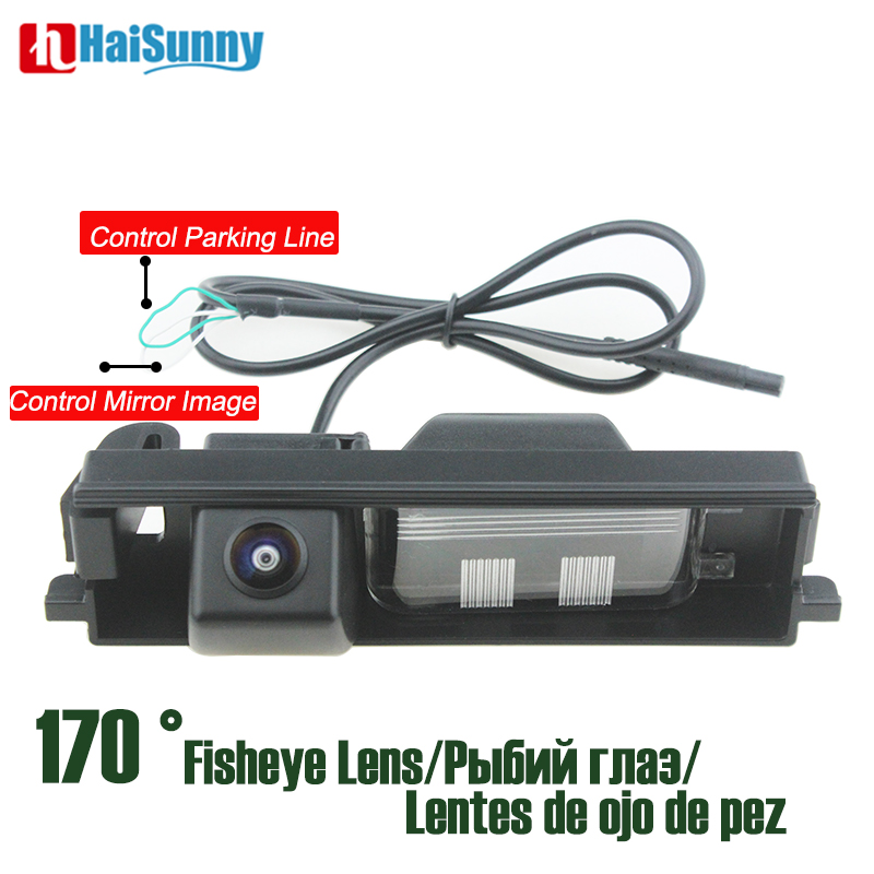 170 degree Rear View Camera Fisheye lens Starlight Night Vision No Parking Line For <font><b>Toyota</b></font> <font><b>Rav4</b></font> 2001 - 2008 2009 <font><b>2010</b></font> 2011 2012 image