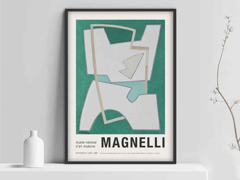 alberto magnelli poster magnelli art exhibition poster italian paint artist magnelli print art exhibition