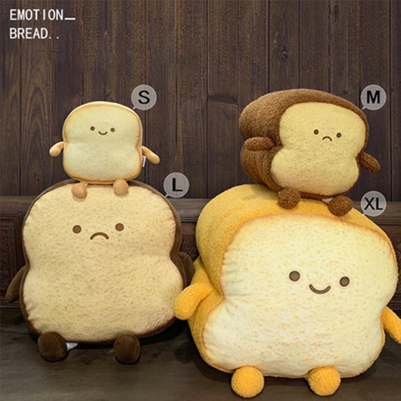 Милая плюшевая подушка для хлеба, набивная пищевая плюшевая игрушка, нарезанная игрушка для хлеба, подушка Bhoulder, сумка для детей