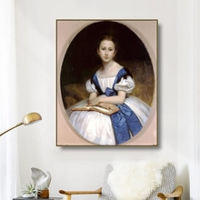 Canvas Oil Painting《Portrait of Miss Brissac》Bouguereau Poster Picture Wall Decor Modern Home Decoration For Living room Office