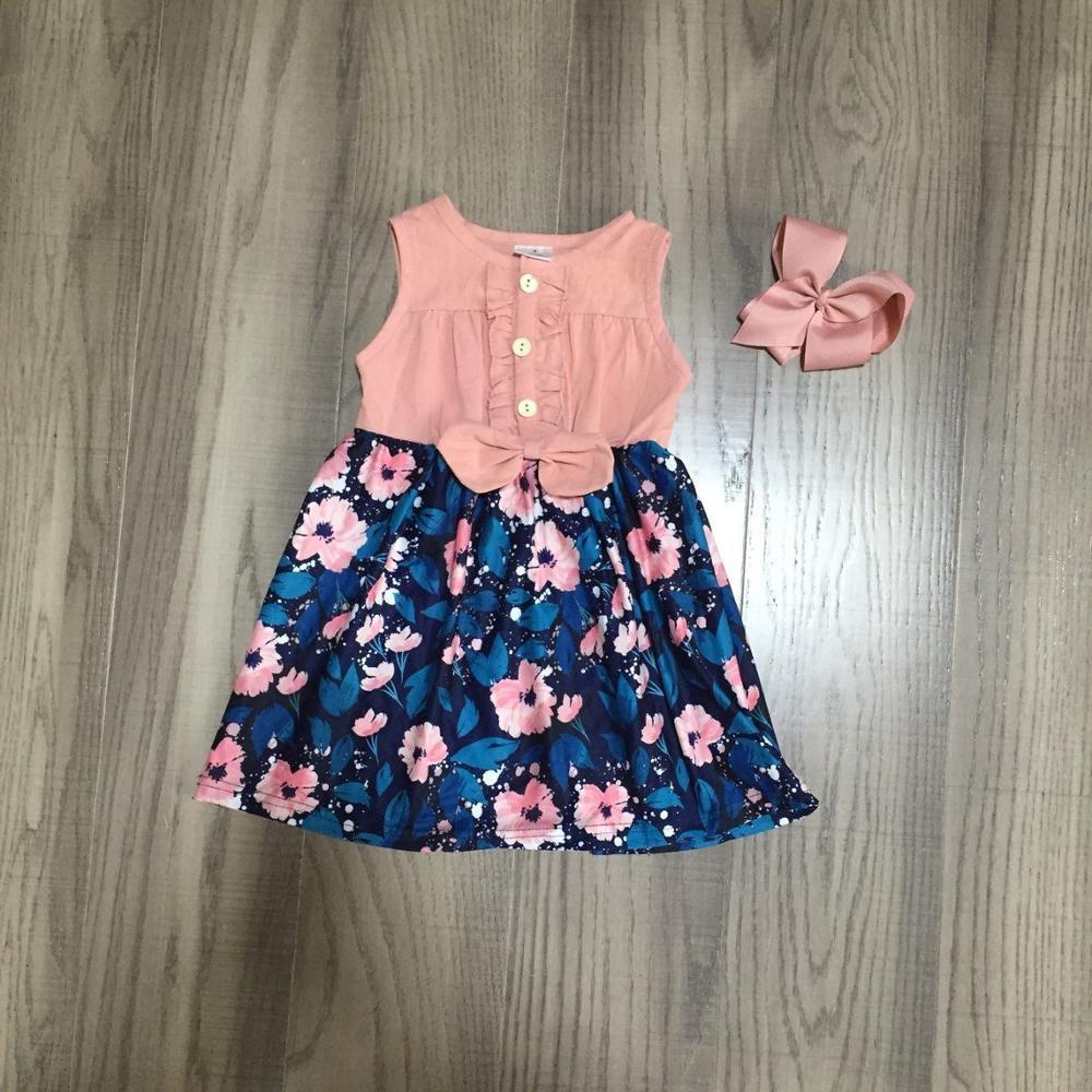 Vestido de verano para niñas pequeñas, vestido floral para niños, vestido clásico de jardín con lazo Vestido de tutú para niñas y niños, Vestido de princesa para niñas, Vestido de fiesta de cumpleaños, ropa informal de verano para niñas, ropa 8T