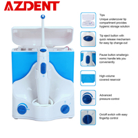 Electric Dental Oral Irrigator Water Jet Flosser with Toothbrush Head Tooth Pick Floss Oral Irrigation Clean 500ml + 4 Jet Tips