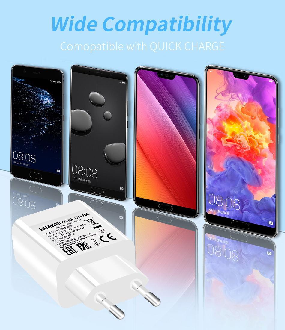 详情5Huawei Genuine Fast Charger 9V 2A QC 2.0 Quick Charge EU Adapter USB C Cable For Mate20lite p9plus honor v9 note8 nove2plus 2 3e