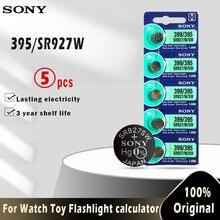 Sony 100% original 395 sr927sw 399 sr927w ag7 lr927 1.55v, célula de moeda de botão de óxido de prata para brinquedo bateria de relógio feita no japão