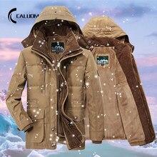 Veste Parka à capuche avec col en fourrure pour homme, manteau chaud et décontracté, à la mode, polaire épaisse, style militaire, collection hiver 2020