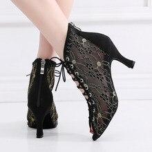 Dance-Shoes Sandals Salsa Rubber Sole Jazz Latin Dancing Tango High-Heels Outdoor Women
