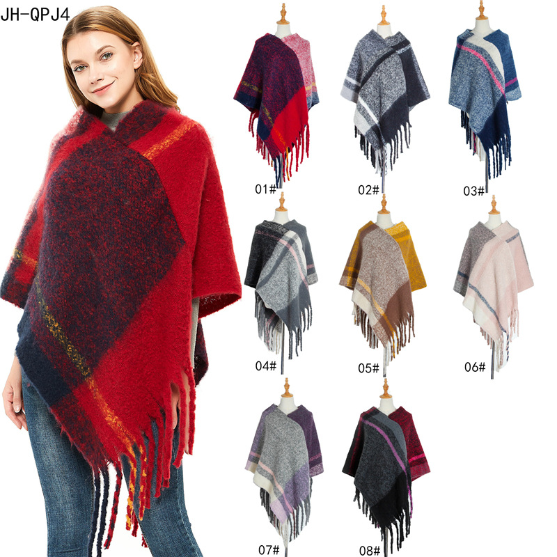 Warm Shawls For Women Fashion Scarf Women Poncho Wearing Scarves Women Cape Female Scarf