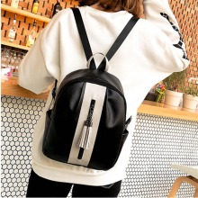 LISM Backpack women's new 2019 fashion PU leather tassel pendant decoration backpack wild  bookbag  Cell Phone Pocket