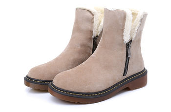 High Quality  Boots Women  Leather Winter Boots Comfortable Warm Wool Women's Long Boots Shoes