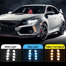 Auto Blinkt 2Pcs DRL für Honda Civic Type R 2018 2019 Led Tagfahrlicht Gelb Blinker Lampe ABS Wasserdicht
