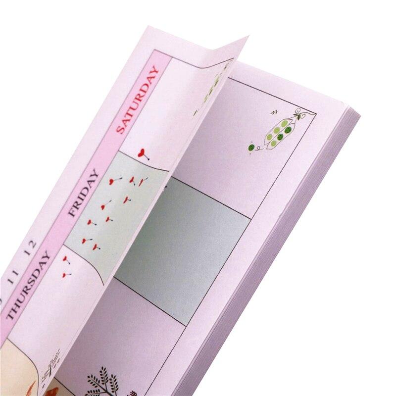 1 Pcs 165*60*5mm 40 Sheets Student Stationery Office Note Stickers Week Plan N Times Post Job Study Memorandum Random Color
