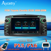 PX6 רכב רדיו 2 דין אנדרואיד 10 מולטימדיה DVD נגן autoradio אודיו עבור טויוטה קורולה E120 BYD F3 סטריאו ניווט GPS DSP 4G