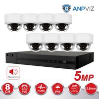 Hikvision 8CH 4K NVR 4/6/8pcs 5MP POE IP Security Camera System Audio Record IP Camera Outdoor CCTV Video Surveillance NVR KIT