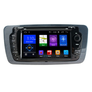 """7""""Android 8.1 car stereo In dash car dvd player gps nav for Seat Ibiza double 2 din touch screen support max:256G memory card(China)"""