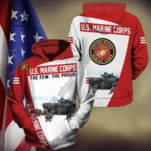 Men Women America US Marine print 3D Hoodies Funny United States policeman Sweatshirt Fashion Hooded Long Sleeve zipper Pullover tshirt united states military armed forces full size ribbon us merchant marine expeditionary
