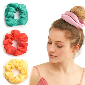 Lovely Satin Hair Scrunchies Bright Color Elastic Hair Bands Hair Accessories For Girls Ponytail Holder Headbands For Women Hot