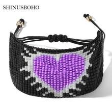 Beads Miyuki Bracelets for Women Handmade Weave Wrap Charm Friendship Bracelet Pulseras Mujer Dropship kpop ss501 kim hyun joong silicon bracelets luminous bracelet wristband pulseras 19278