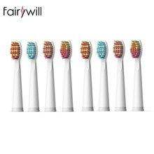 8 pièces brosse à dents électrique tête antibactérien automatique brosse à dents remplacement pour Fairywill FW-507 FW-508 FW-917 FW-959 FW-551