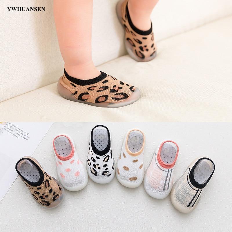 YWHUANSEN 6 To 36M Spring Summer Leopard Children's Indoor Socks Shoes Toddler Baby Anti-slip Floor Socks With Soft Rubber Sole