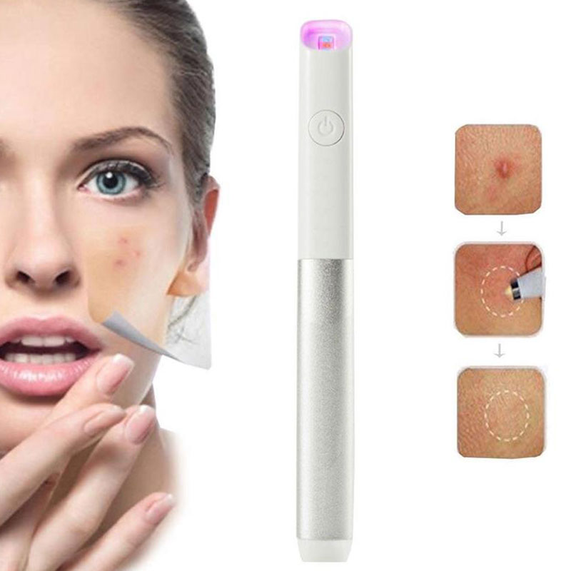 Blue Red Light Therapy Acne Spot Treatment Laser Pen Scar Wrinkle Removal Device Blackhead Blemish Remover Face Skin Care Tool