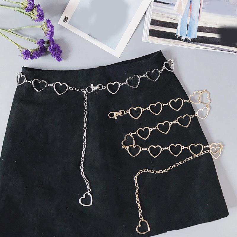 105cm Waistband Pants Classic Waist Chain Love Heart Hollow Girdle For Women Hip Hop Style Fashion Fine Waist Belts 2020 Trendy