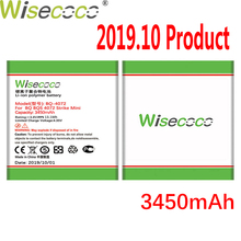 цена на WISECOCO 3450mAh Battery For BQ BQS 4072 BQ-4072 strike mini  Mobile Phone In Stock Latest Production With Tracking Number
